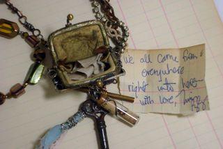 Purse necklace open 2