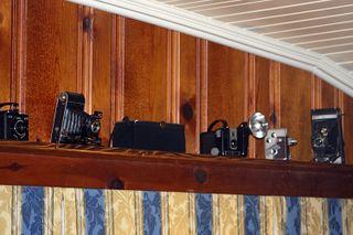 Camera shelf