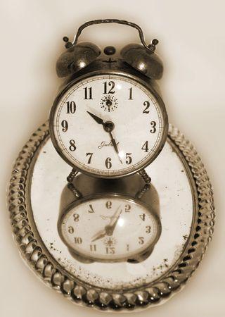 Clock sephia