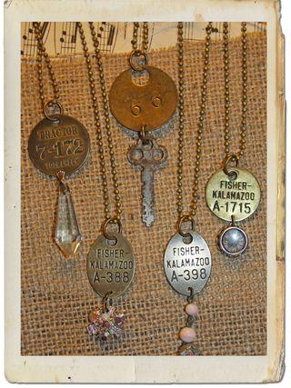 Tag necklaces