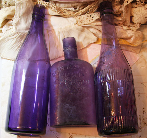 Purple bottle